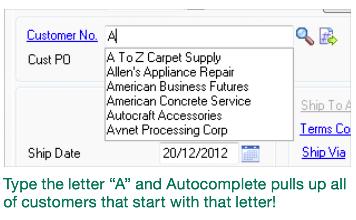 Autocomplete in Sage 100 ERP (versus GetX by xkzero)